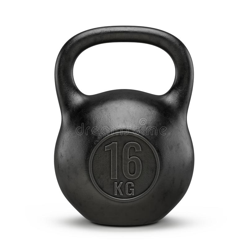 Вес спортзала Kettlebell изолированный на белой предпосылке стоковые изображения rf