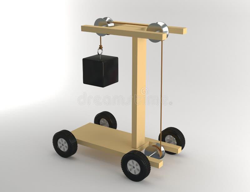 Вес эксперимент по силы иллюстрация вектора