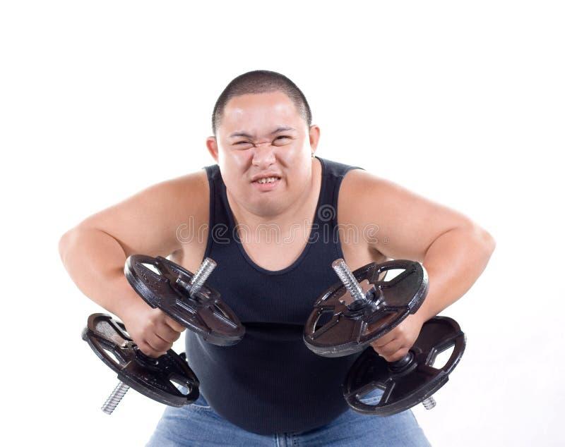 вес lifters выражений стоковое изображение