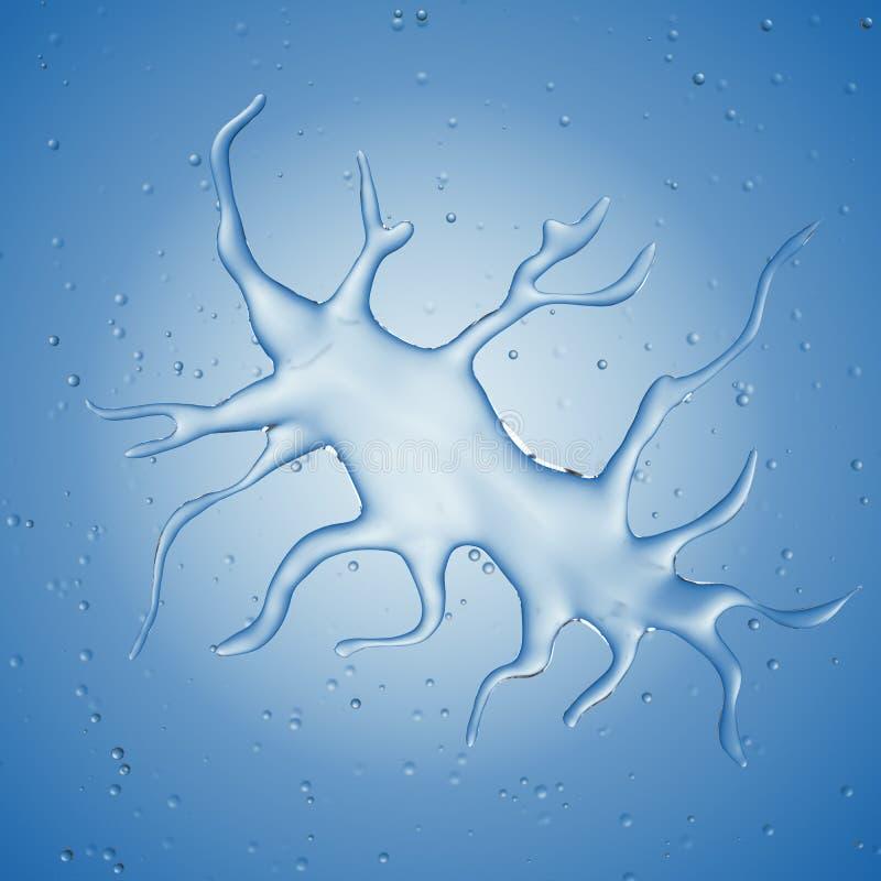 Ветвеобразная клетка иллюстрация вектора
