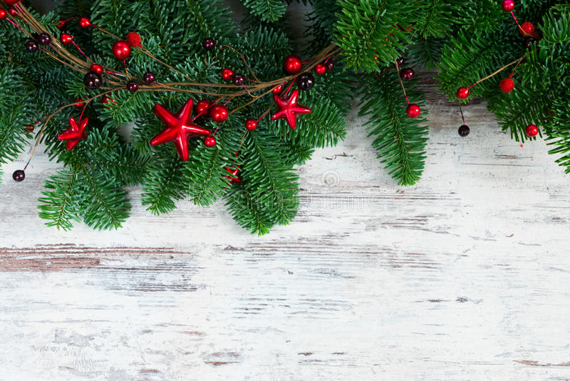 Ветви дерева рождества свежие вечнозеленые стоковая фотография rf