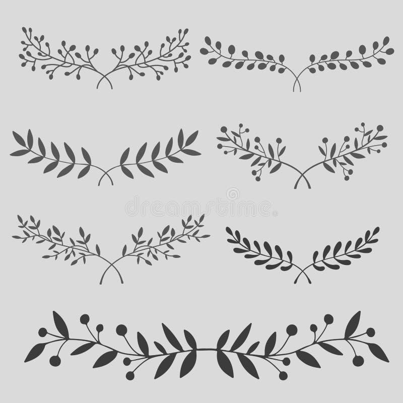 Ветви нарисованные рукой бесплатная иллюстрация
