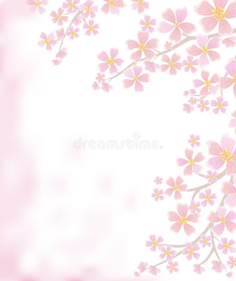ветви предпосылки цветя весна иллюстрация штока