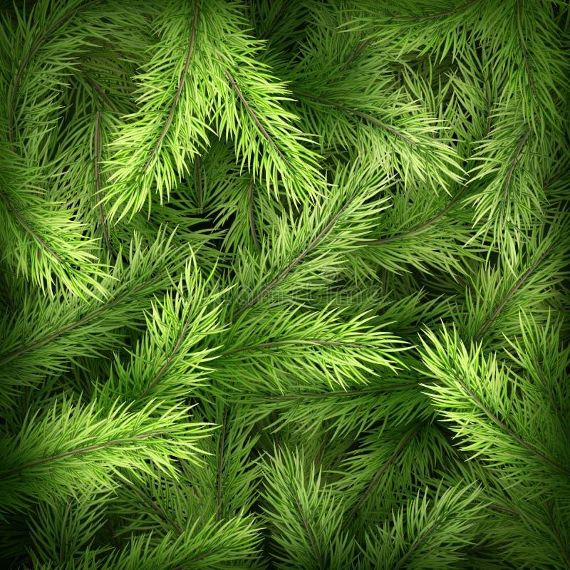 Ветви рождественской елки на темной ой-зелен предпосылке 10 eps бесплатная иллюстрация