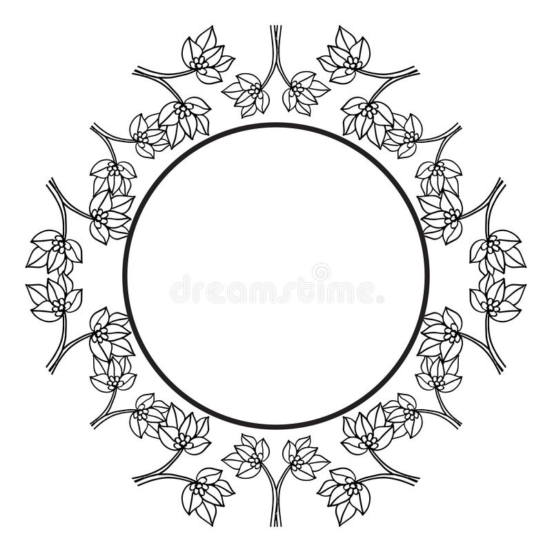 Ветви цветут изолированный на белой предпосылке, флористических элементах дизайна рамки для приглашений, поздравительных открыток бесплатная иллюстрация