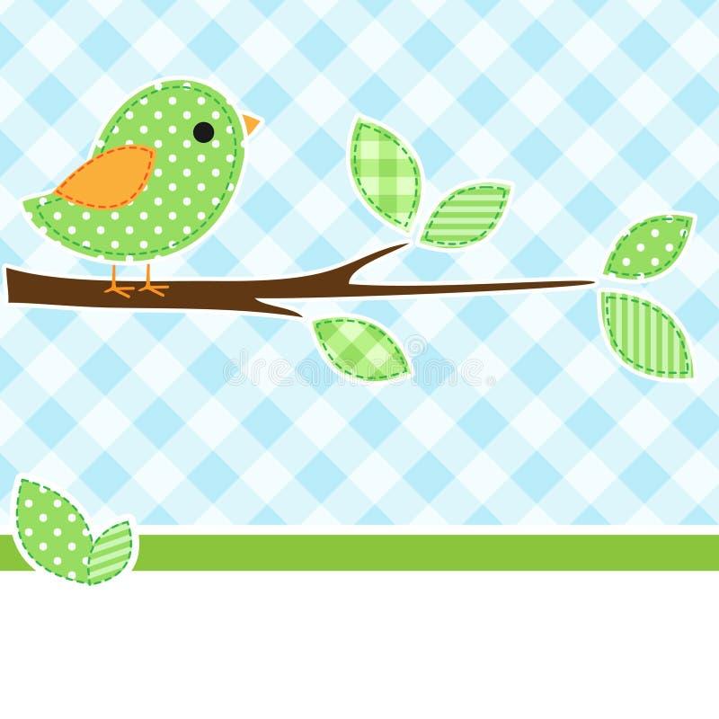ветвь птицы иллюстрация вектора