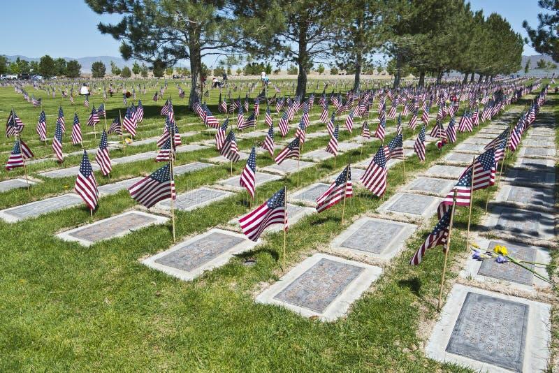 ветераны Невады кладбища мемориальные северные стоковые фотографии rf