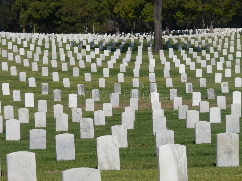 ветераны los кладбища angeles стоковые фотографии rf