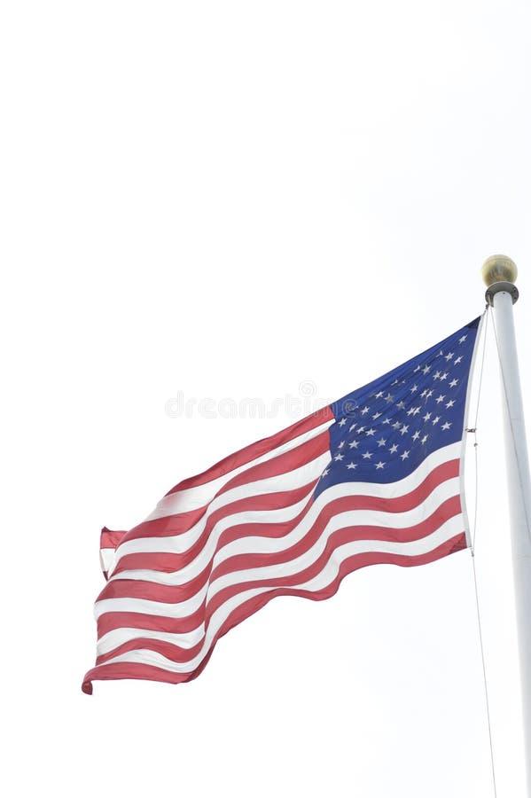 ветер американского флага стоковое фото rf