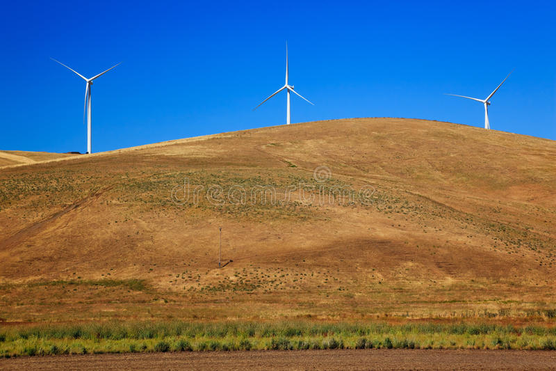 ветер вашингтона турбин palouse сельской местности стоковое изображение rf