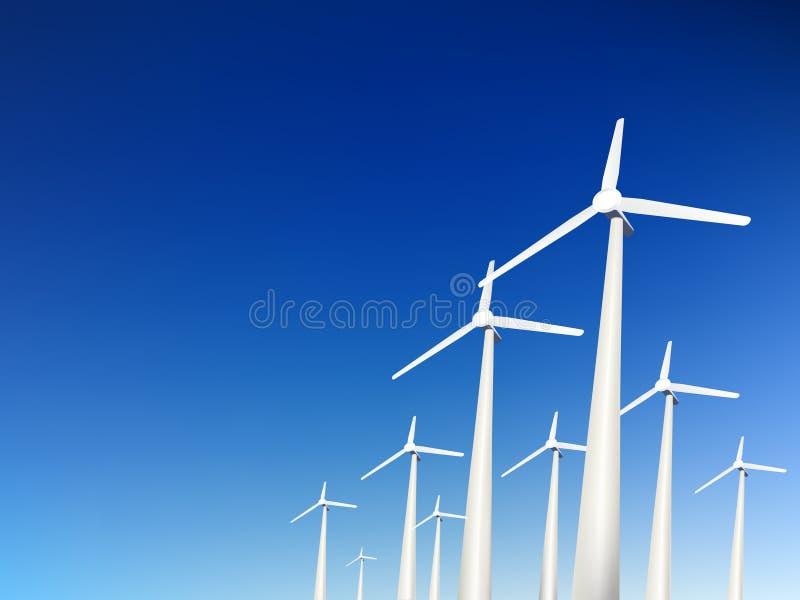 ветер вектора турбин стоковое фото rf