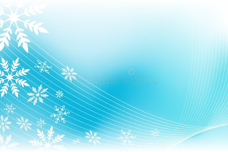 ветер снежинки предпосылки иллюстрация штока