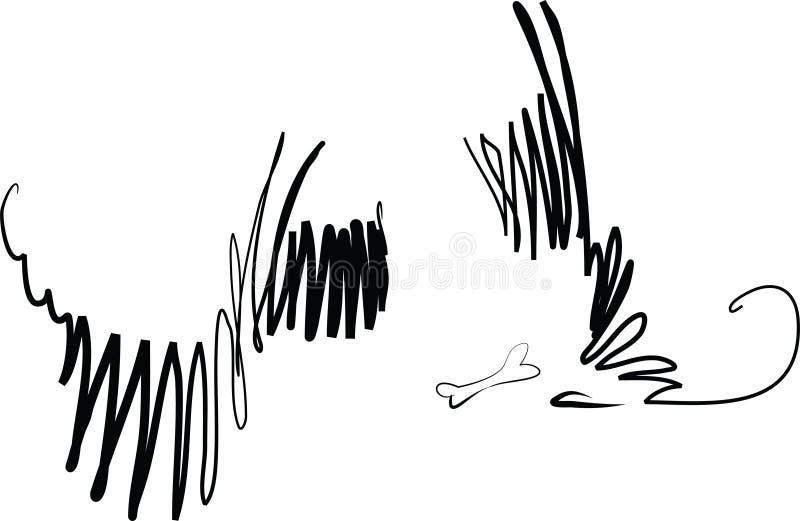 ветер собак бесплатная иллюстрация