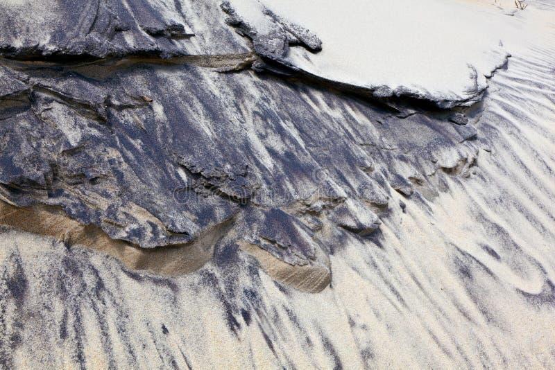 ветер структур форм дюн пляжа стоковые изображения