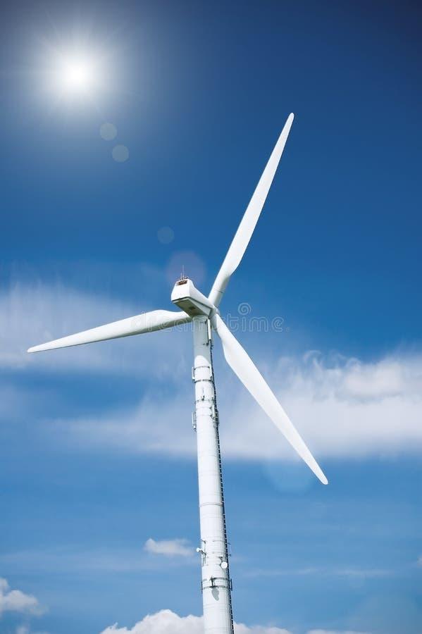 ветер турбины солнца стоковые изображения