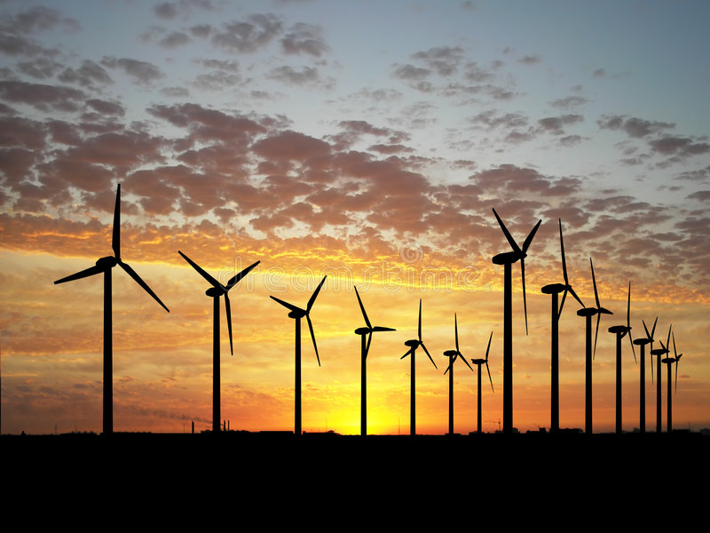 ветер турбины фермы стоковые фотографии rf