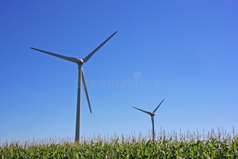 ветер турбины экологически чистая энергия стоковая фотография