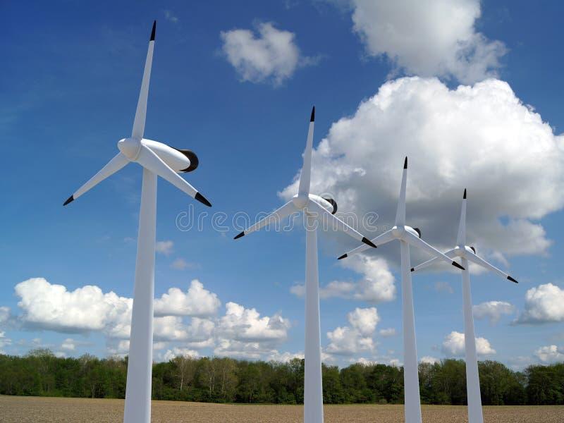 ветер турбин бесплатная иллюстрация