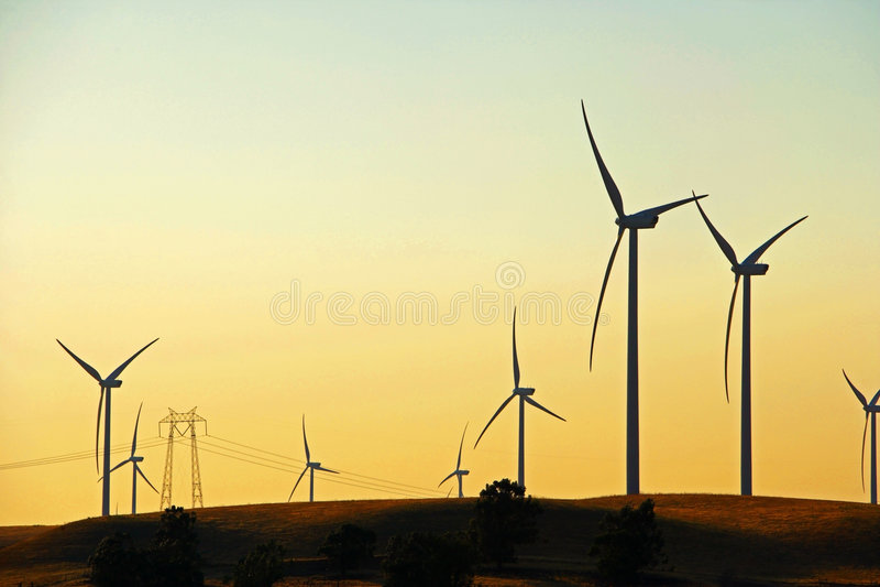 ветер фермы перепада стоковое изображение rf