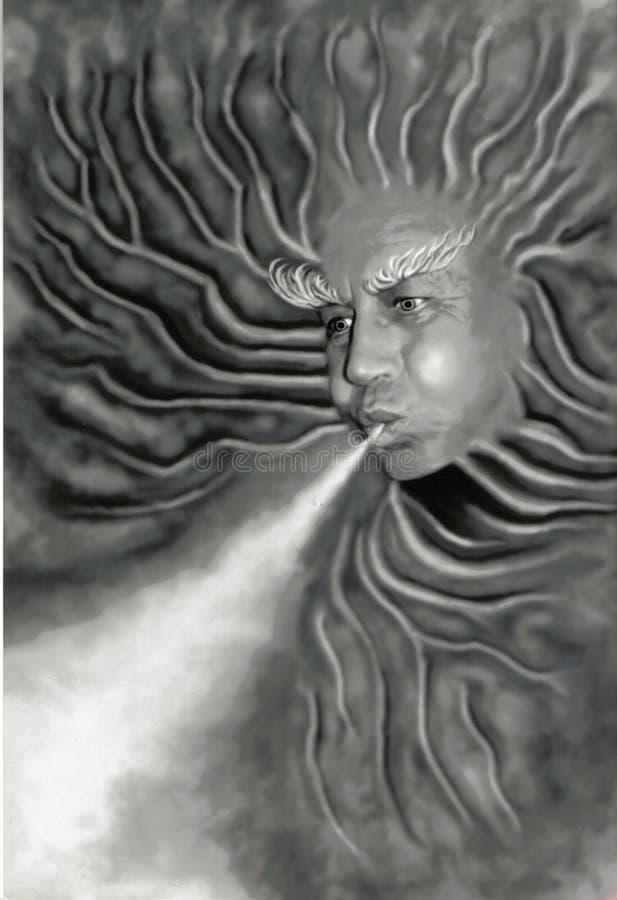 ветер шторма иллюстрация штока
