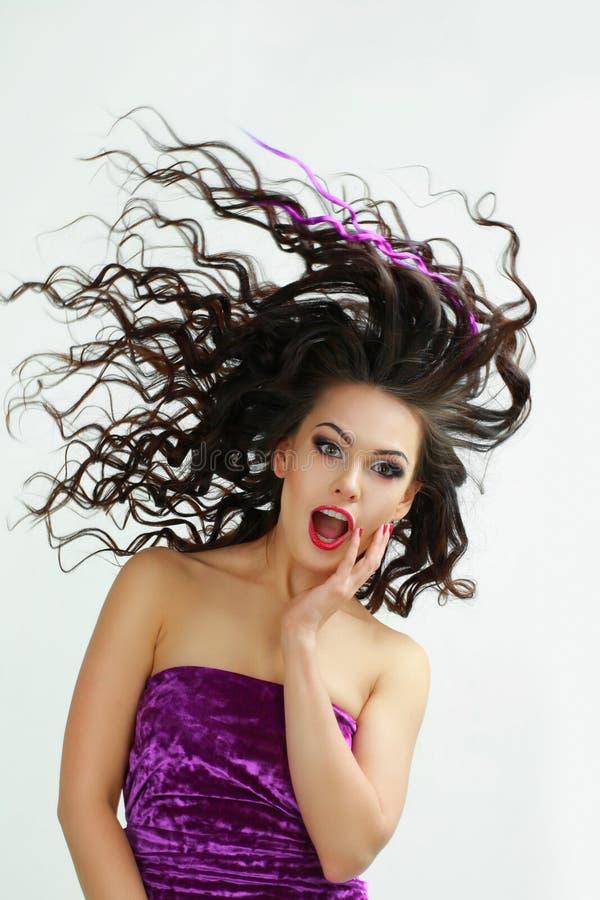 ветреная женщина стоковое фото