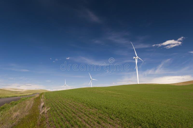 Ветровая электростанция Palouse стоковое изображение rf