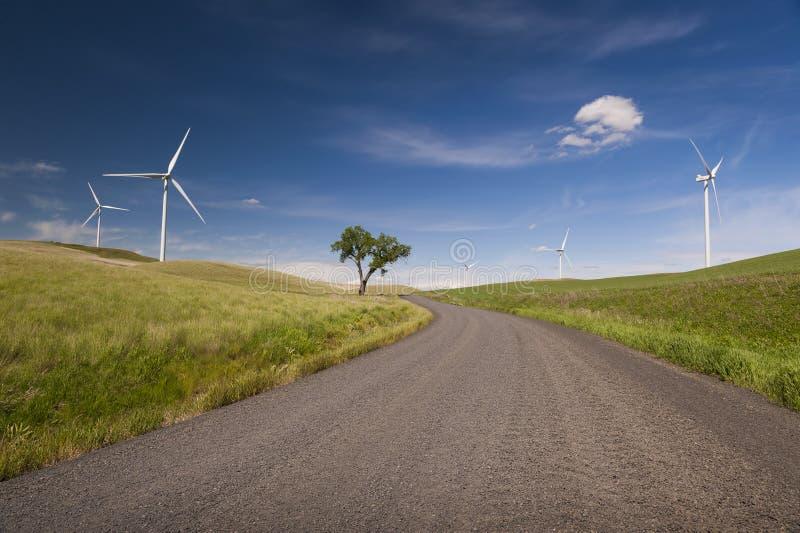 Ветровая электростанция Palouse стоковые изображения