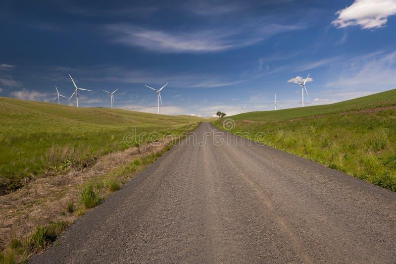 Ветровая электростанция Palouse стоковое изображение