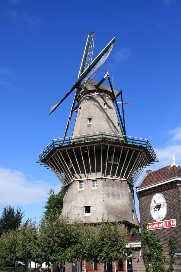 Ветрянка в Амстердаме Нидерланд стоковое фото