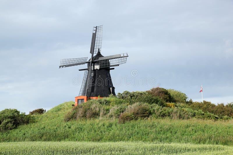 Ветрянка в Borglum, Дании стоковые фотографии rf