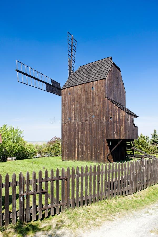 ветрянка Чешской республики деревянная стоковое фото rf