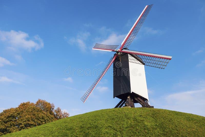 ветрянка bruges стоковые изображения rf