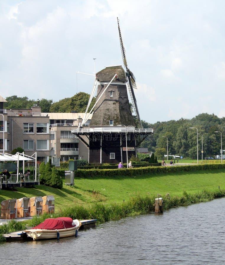 Ветрянка De Konijnenbelt в Ommen Нидерланды стоковое изображение