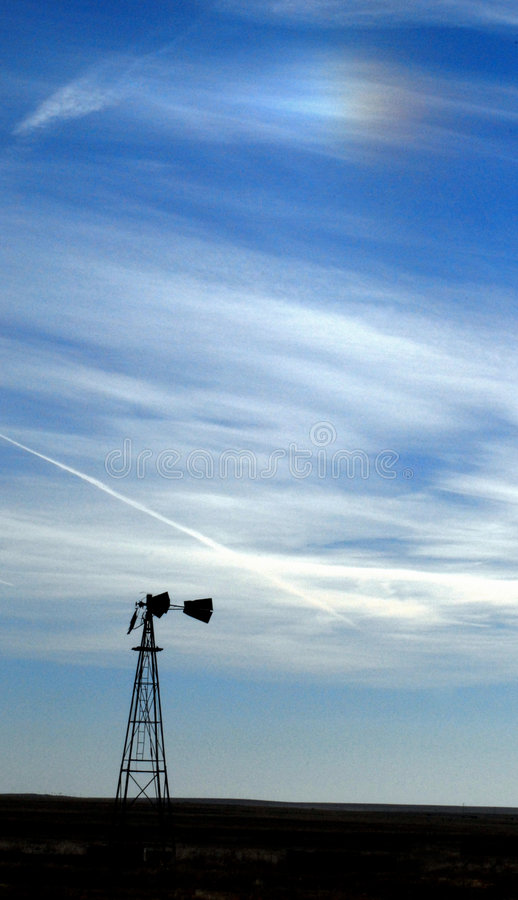 ветрянка sundog стоковые фотографии rf