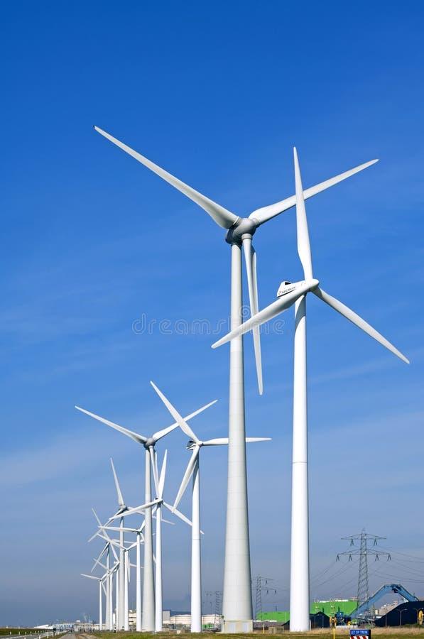 Ветрянки атомной электростанции в Borssele стоковые фотографии rf