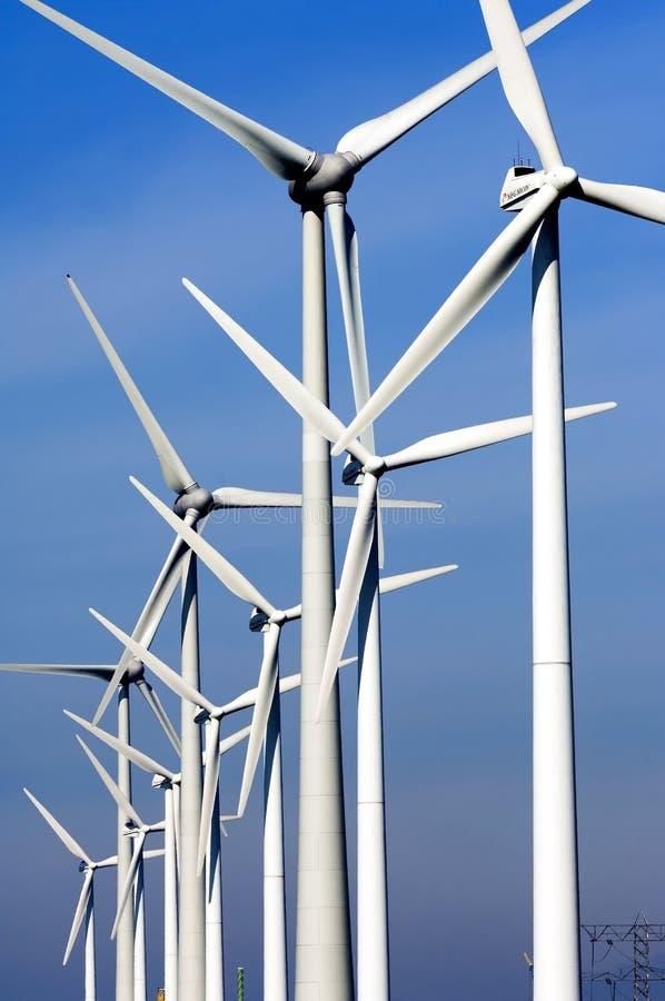 Ветрянки атомной электростанции в Borssele стоковые изображения rf