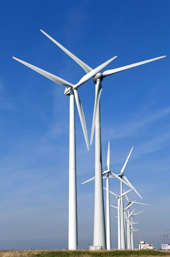 Ветрянки атомной электростанции в Borssele стоковая фотография
