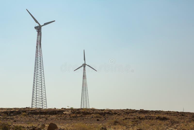 Ветрянки в пустыне Индии стоковое изображение rf