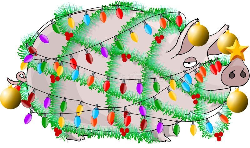 ветчина рождества иллюстрация вектора