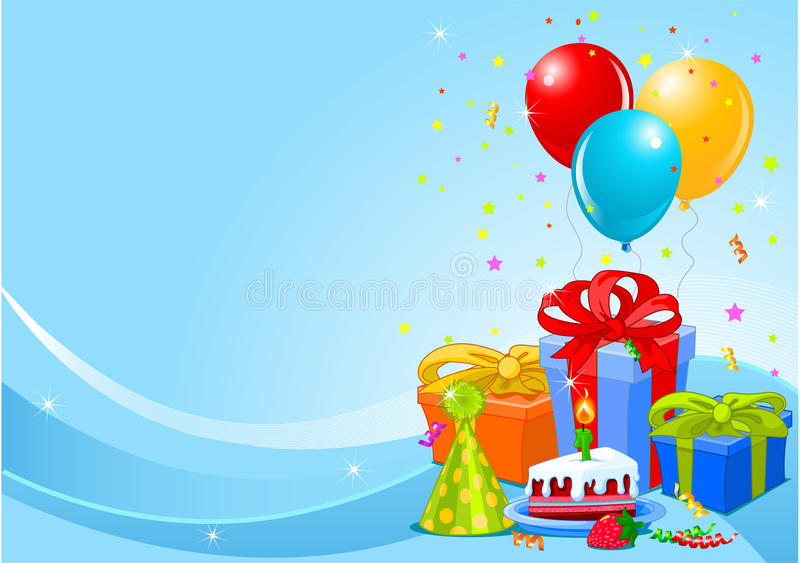 вечеринка по случаю дня рождения предпосылки иллюстрация вектора