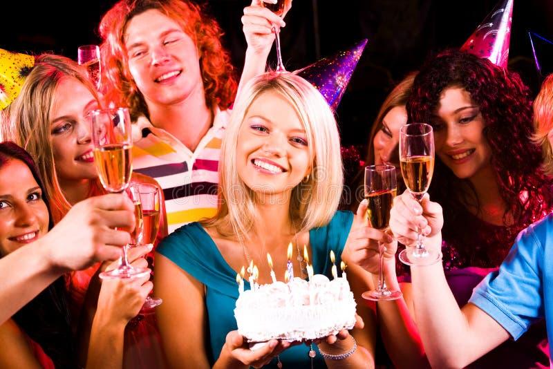 вечеринка по случаю дня рождения стоковые фото