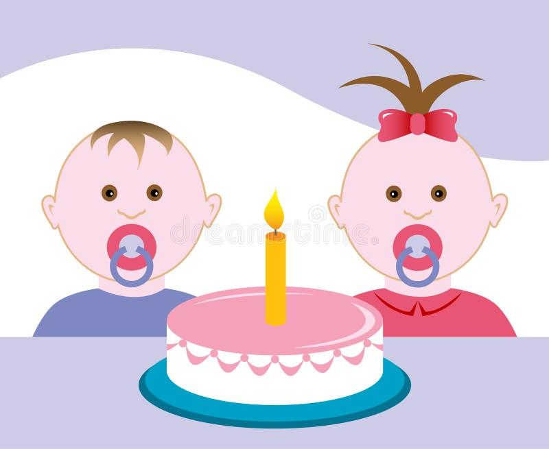 вечеринка по случаю дня рождения иллюстрация вектора