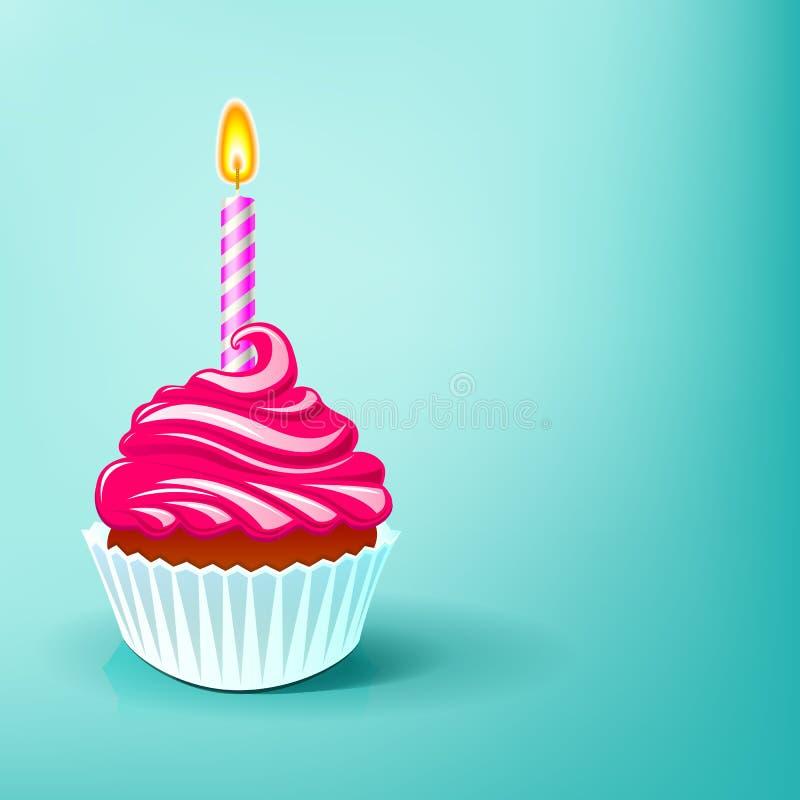 Вечеринка по случаю дня рождения торта бесплатная иллюстрация