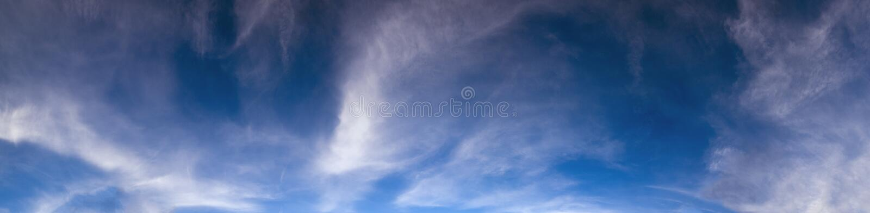 Вечерний фон панорамы с облаками стоковое фото