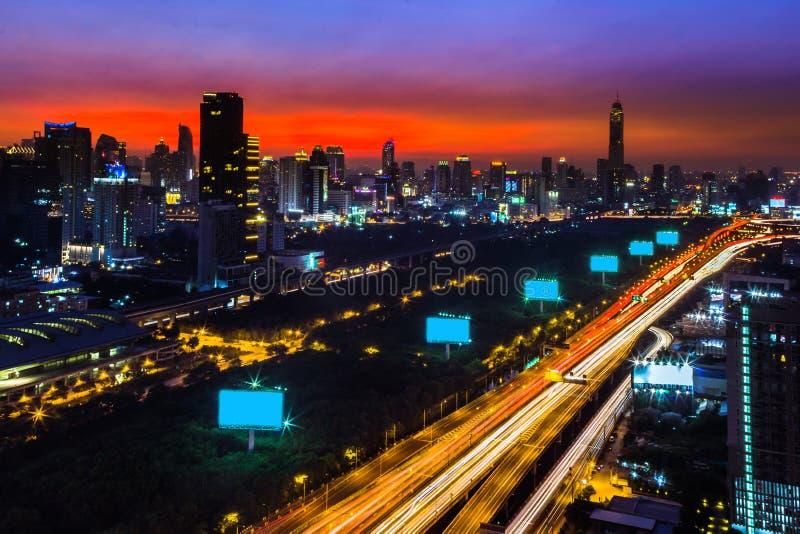 Вечер Бангкока стоковая фотография rf