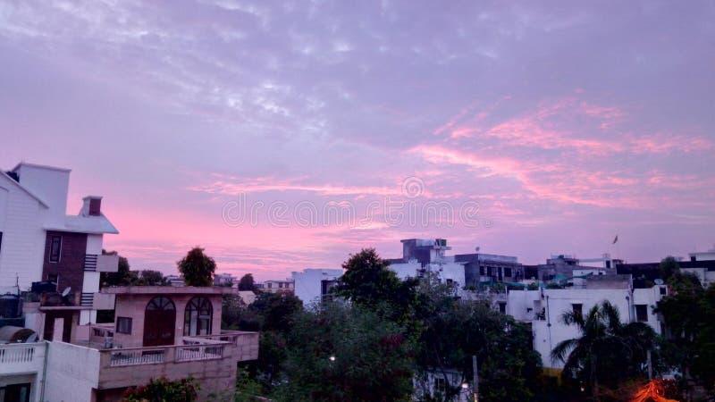 Вечер в Дели стоковое фото