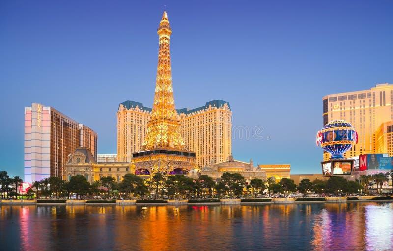 Вечер в Лас-Вегас стоковая фотография rf