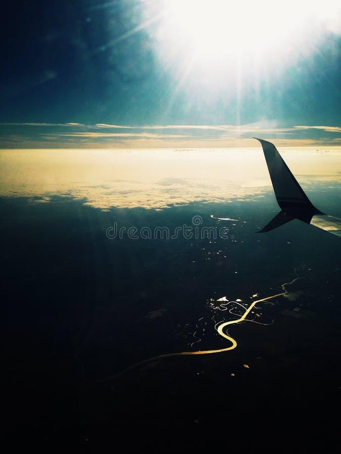 Вечер в небе стоковые фотографии rf