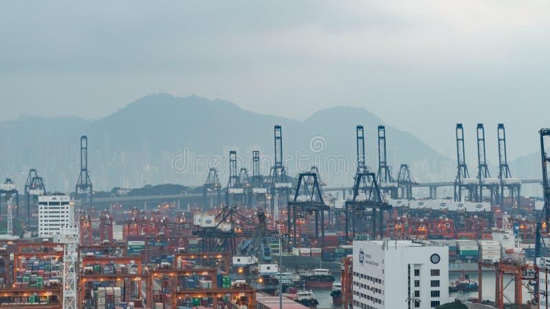 Вечер Гонконг стоковое изображение rf