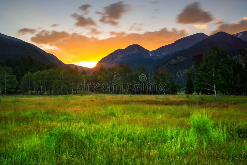 Вечер лета в Колорадо стоковое изображение